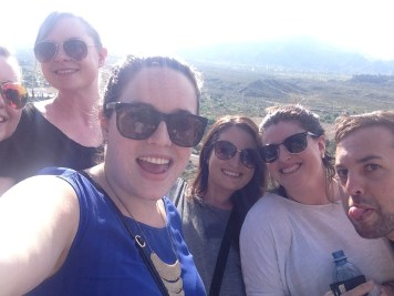 We made it! Check out the Andes in the background! (Liz, me, Kelly, Miranda, Natalie)
