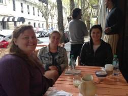 Brunch at Oui Oui: Samantha, Lisa, Kirsten