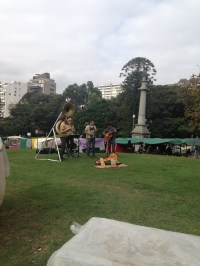 Musicians in Recoleta fair