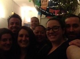 Charming backyard (Miranda, Eric, Kelly, Ella, Anabelle, me, Jason)
