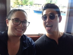 Me and Derrick on a boat!