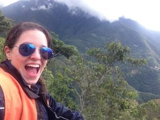 Death Road selfie