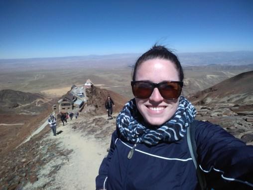 17,000 feet up at Chacaltaya