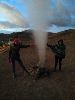Arestia and I with a geyser