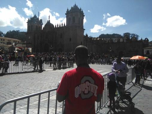 Sean in Plaza de Armas