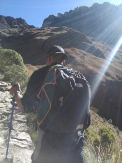 Sean hiking