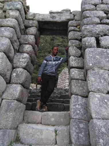Sean at Winay Wayna