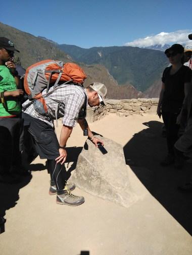 Checking out Inca compass