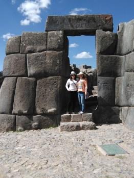 My cousin and I at Sacsayhuaman