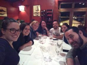 PTY crew dinner at Cicciolina! Me, Kelly, Ella, Anabelle, Eric, Miranda, Jason