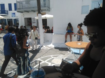 Last day of Mykonos, in the town center