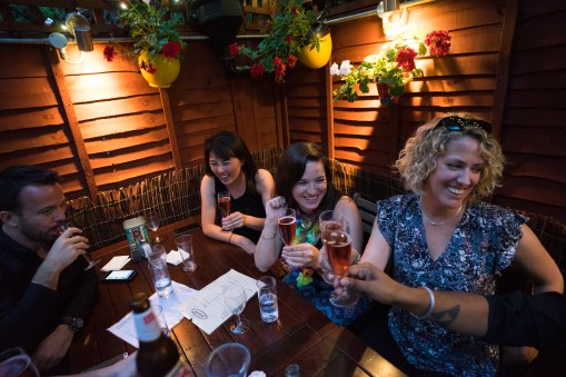 Birthday dinner rose (Irene, me, Diane)