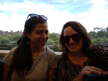 Sam and I on the tube