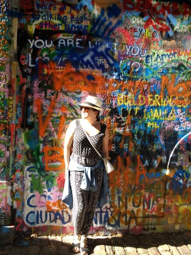 The Lennon Wall, with hopes of peace