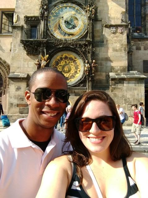 The famous Prague clock tower
