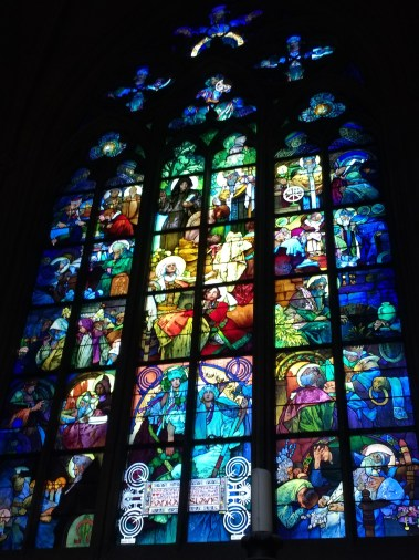 The stained glass at St. Vitus was stunning