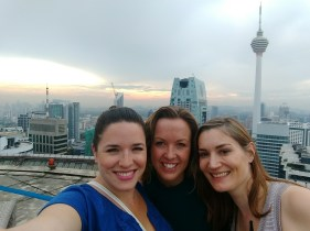Heli Lounge drinks with Michelle and Jane, our KL expat friend