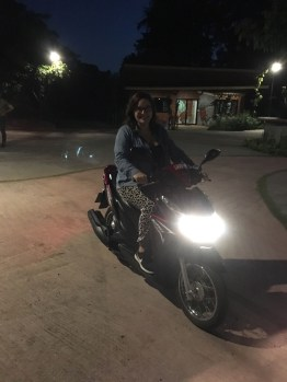 Learning to scoot -- call me Night Rider