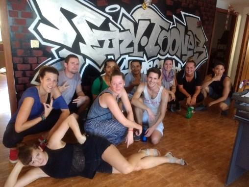 Feeling badass after our dance class