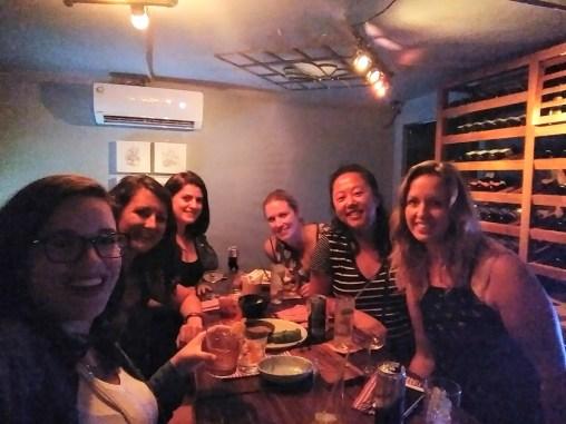 Girls' drinks! With Kelly, Miranda, Ella, Anabelle, Michelle