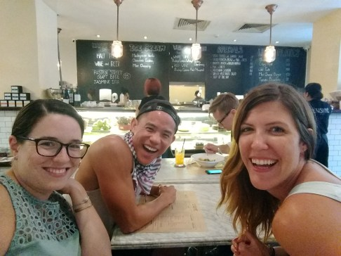 Brunching with Johnson and Arestia