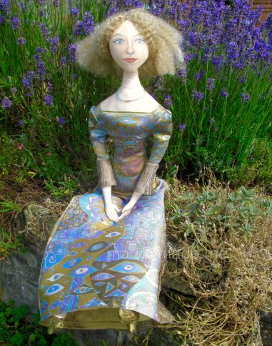 Art Muses, art-dolls inspired by artist's paintings, by Marina Elphick, handmade from finest hand dyed silks and cottons.