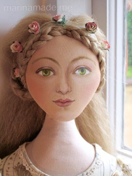 Marina's muses, individually hand made creations. Marina's muses are inspired by artists models, individually hand made using fine cotton lawns and silks. Art Muses, art-dolls inspired by artist's paintings, by Marina Elphick