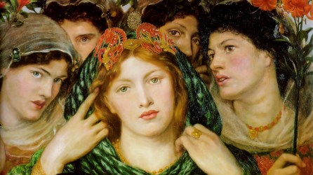 """The Beloved"""", oil painting by Dante Gabriel Rossetti 1866."""