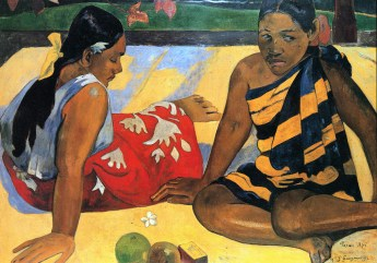 """Parau Api"", Two women of Tahiti 1892 Paul Gauguin"