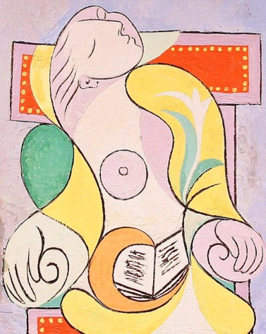 """""""La Lecture"""" by Picasso, 1932, showing his lover and muse Marie-Thérèse asleep."""