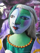 Marie-Thérèse muse inspired by Picasso, made by artist, Marina Elphick. Marina's Muses.