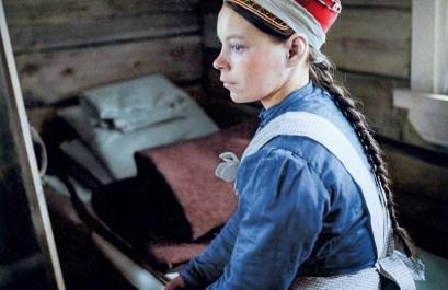 Sami girl, 1938, Suenjel (Suonikylä), Petsamo