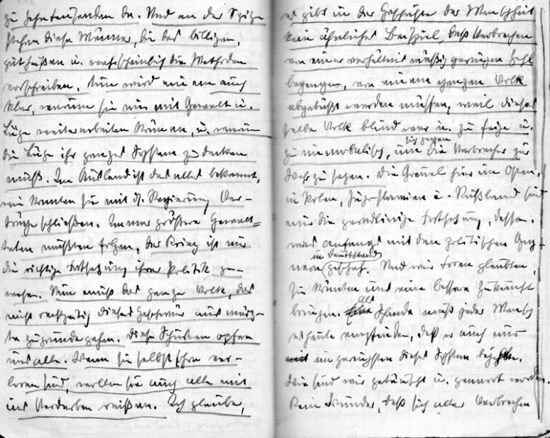 Two pages from the diary of Hosenfeld from the year 1942