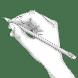 χέρι-μολύβι-σχέδιο