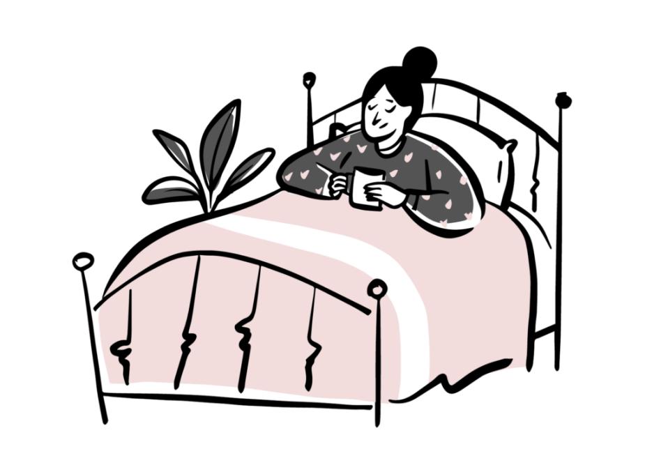 εαυτό-γυναίκα-κρεβάτι-κούπα