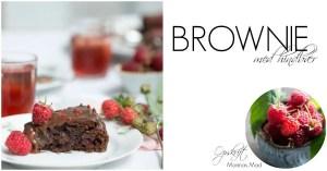 Brownie med hindbær