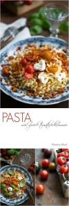 Sprøde brødkrummer pasta