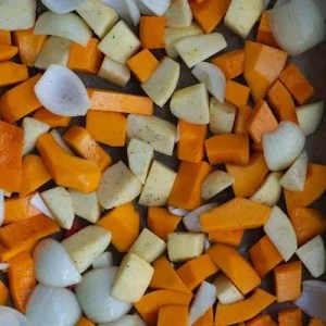 Grønsager til græskarsuppe