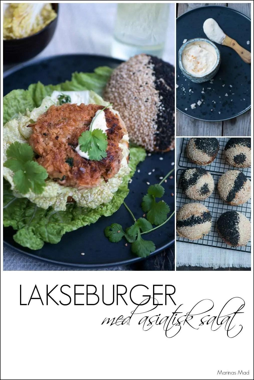 Spicy lakseburger opskrift.