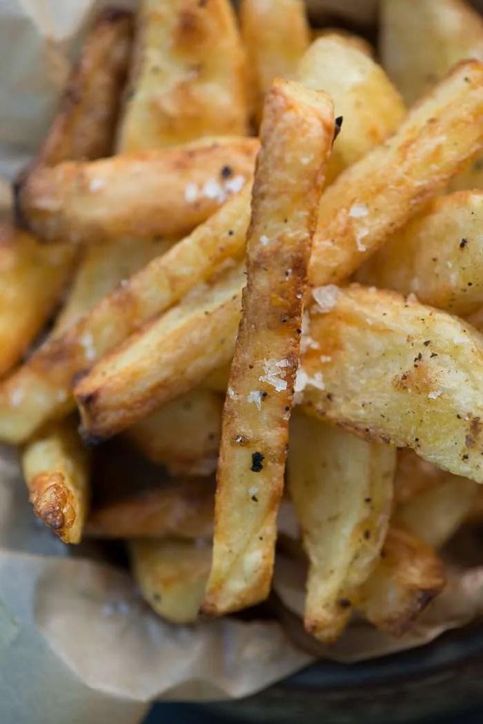 Hjemmelavede pommes frites. Opskrift