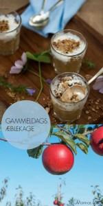 Gammeldags æblekage med æblekage rasp