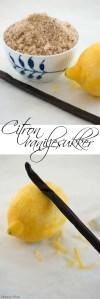 Vaniljesukker med citron. Opskrift