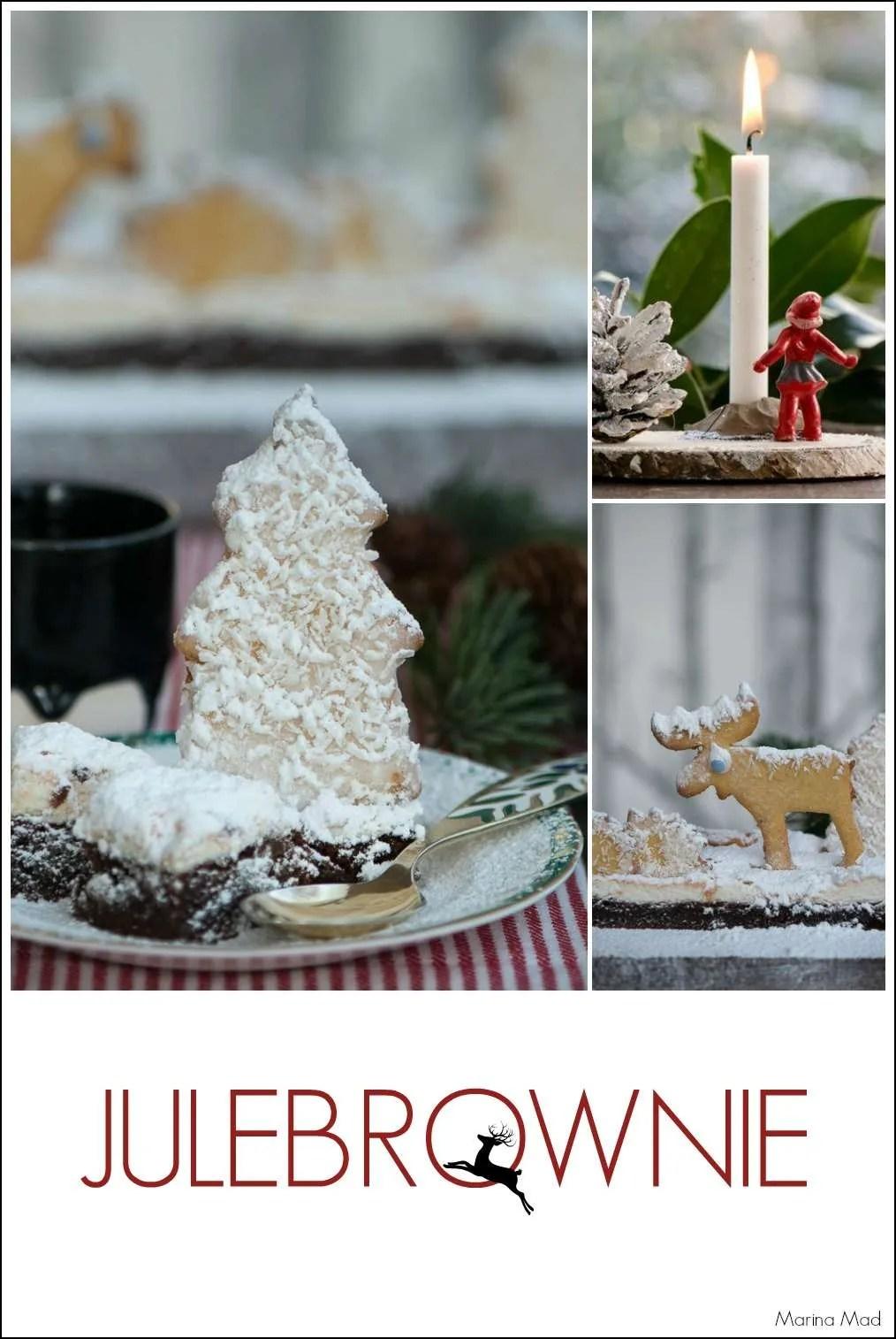 Julepyntet brownie