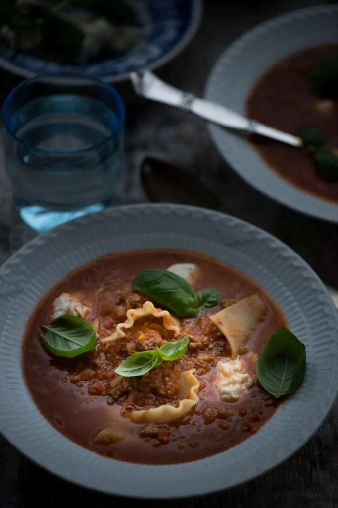 Opskrift på lasagnesuppe