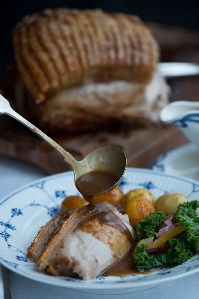 Brunede kartofler til flæskesteg