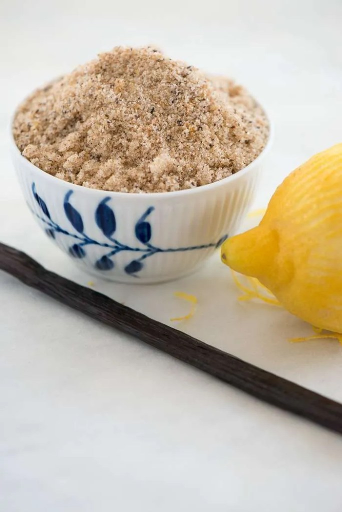 Citron vanilje sukker opskirft