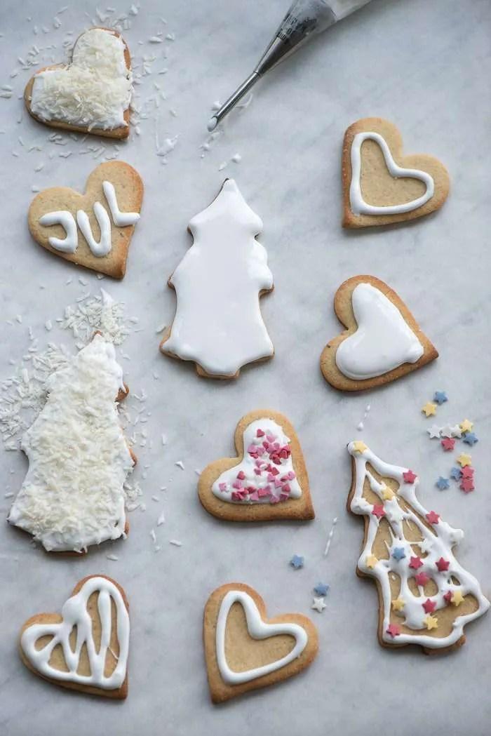 Hvid glasur til småkager