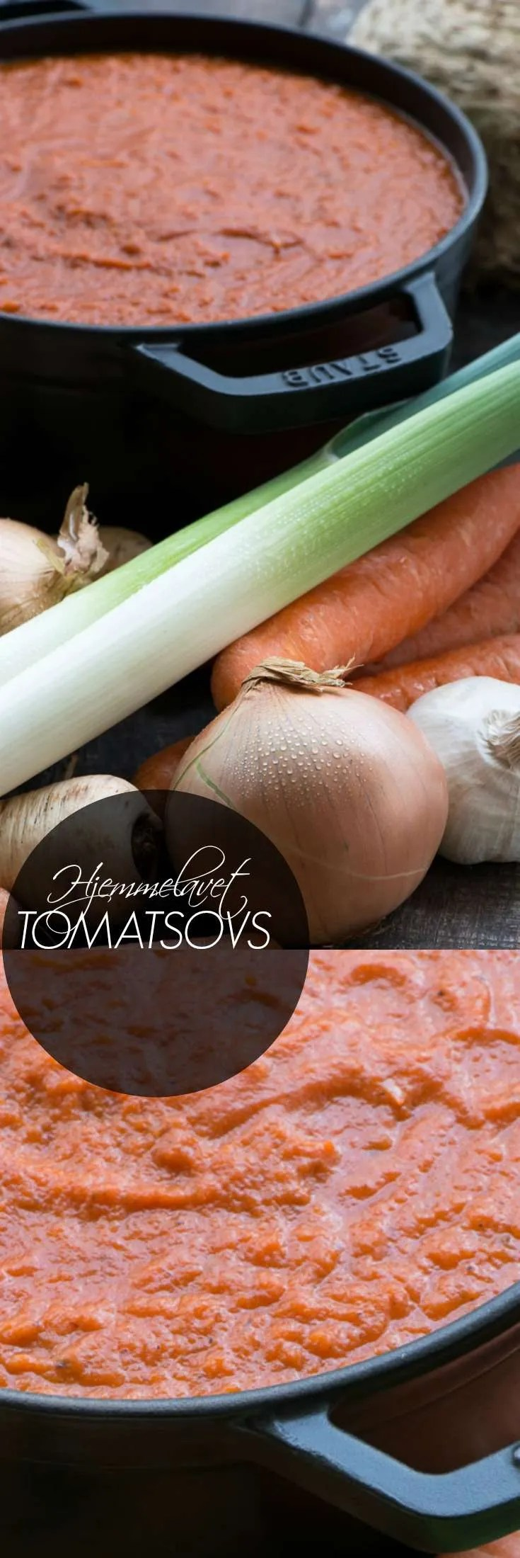 Hjemmelavet tomatsovs er sundt og lækkert. Med tomatsovs i fryseren kan du nemt fremtrylle familiens livretter. Få opskriften hos Marinas Mad der også har links til mange retter der kan laves med tomatsovsen. Reder aftensmaden på de travle dage.