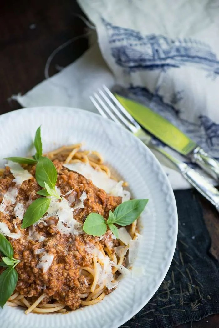 Kødsovs til spaghetti