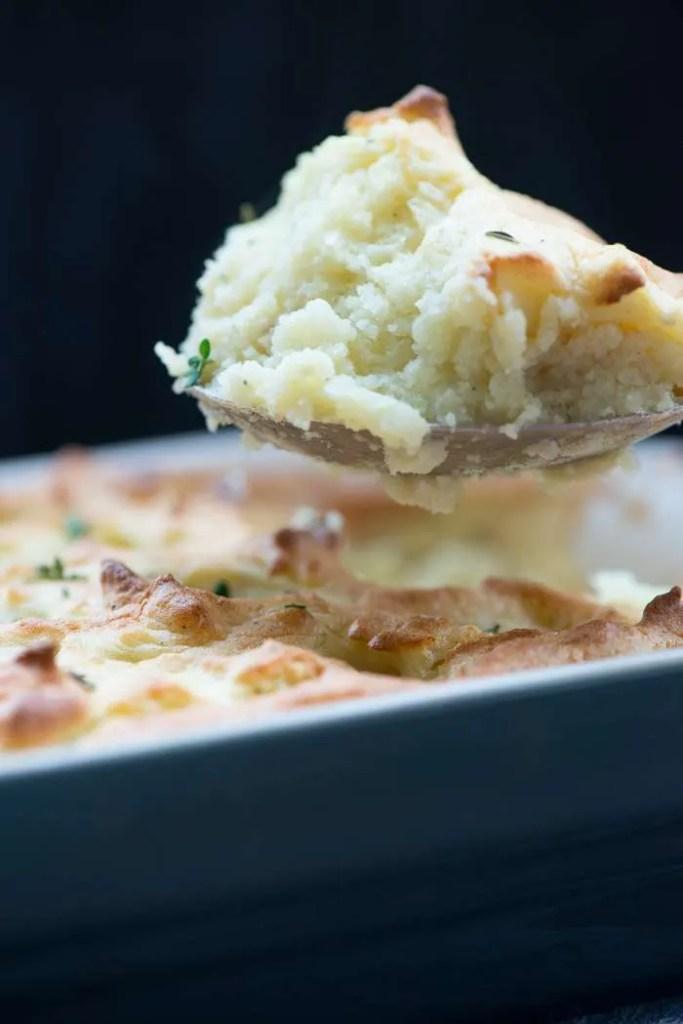 Luftig kartoffelmos bagt i ovn